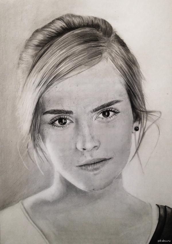Цветные портреты карандашом девушек