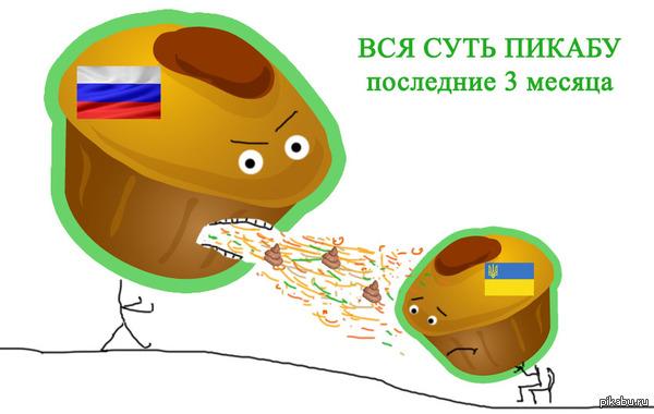 Вся суть PiKabu в последнее время...  Россия, Украина, пикабу.