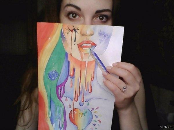 С селфи селфи рисунок креатив selfie