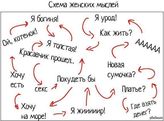 Схема женских мыслей