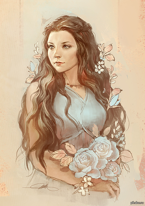Queen Margaery. С просторов tumblr.  Margaery Tyrell, Natalie Dormer, Game of Trones, Art, Fanart