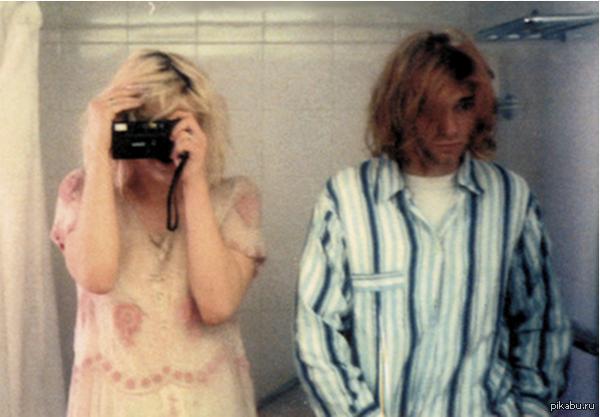 Курт Кобейн и Кортни Лав, 1992   фото, кобейн, селфи
