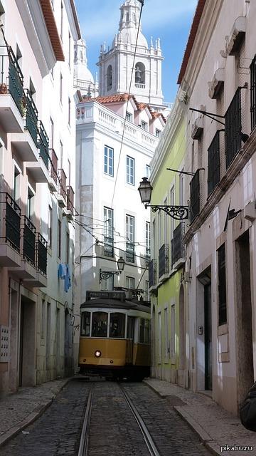 трамвай, лиссабон   трамвай, лиссабон