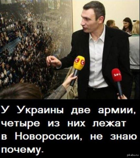 Кличко об армии Виталий-Златоуст  Украина, Кличко, Потерь нет, армия, Новороссия, Цитаты великих людей, Политика