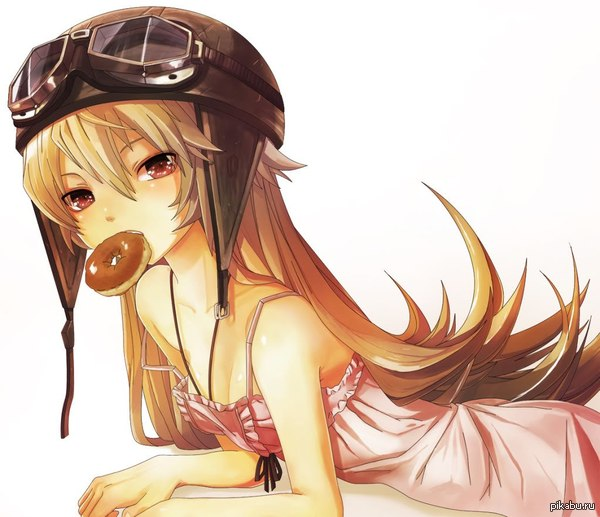 Anime Art �103 ��� �� � ���� �����.  Bakemonogatari, Oshino Shinobu, �����, ���, Anime Art