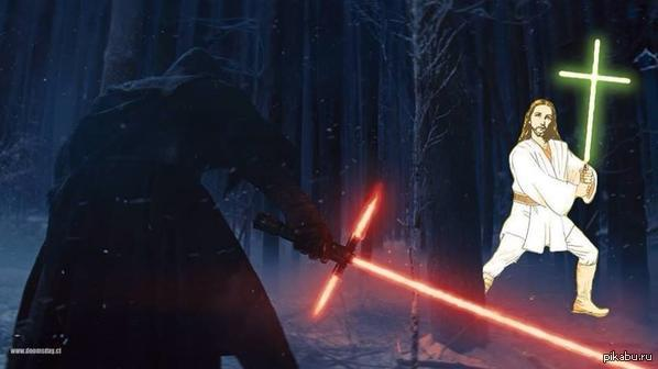 Да придёт спаситель!   star wars, star wars episode 7, Иисус, юмор