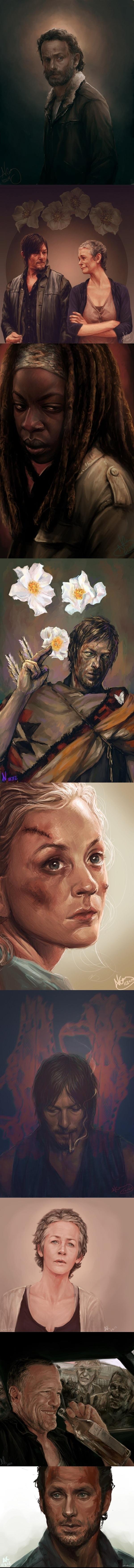 Немного арта на ходячих мертвецов by Czaritsa  ходячие мертвецы, The walking dead, арт, Картинки, не мое, длиннопост