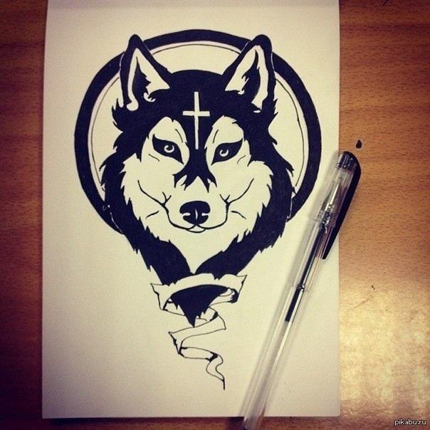 рисунки тату ручкой