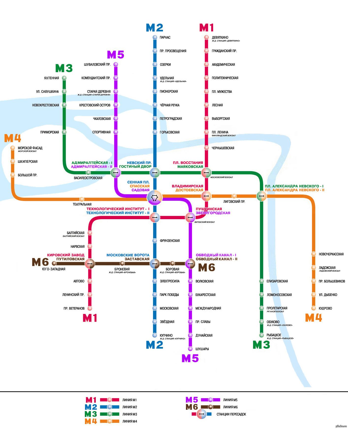 схема метро спб - станция метро адмиралтейская
