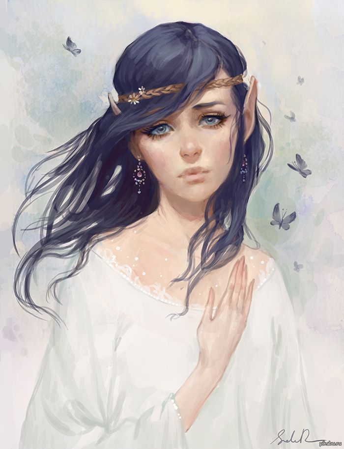 смазка эльфийской девушки