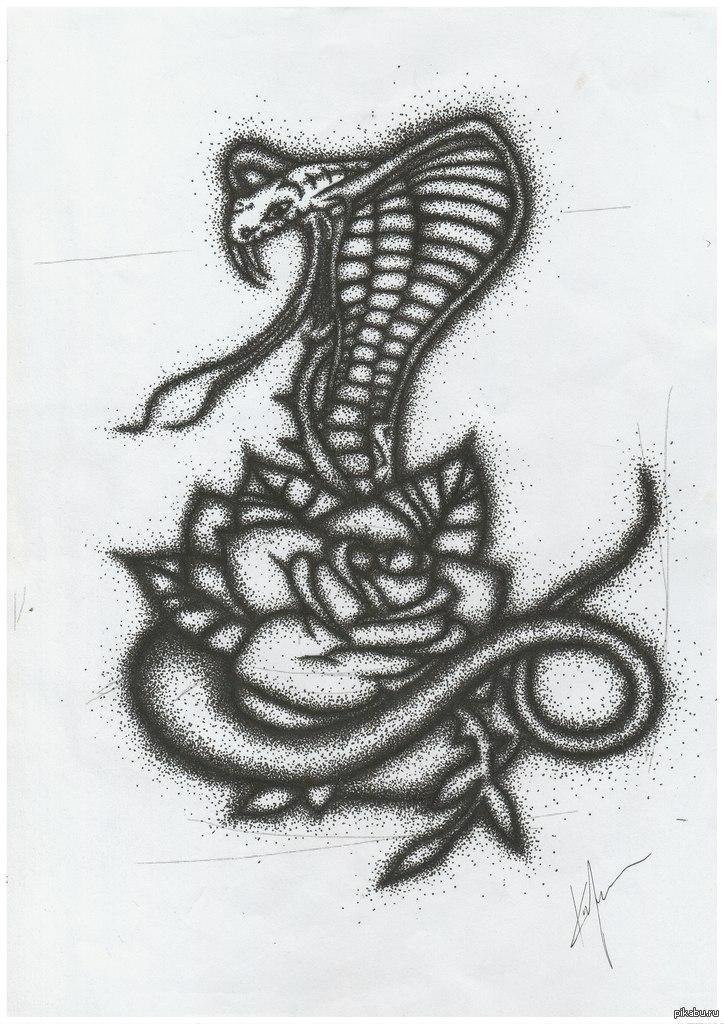 рисунки змей для тату