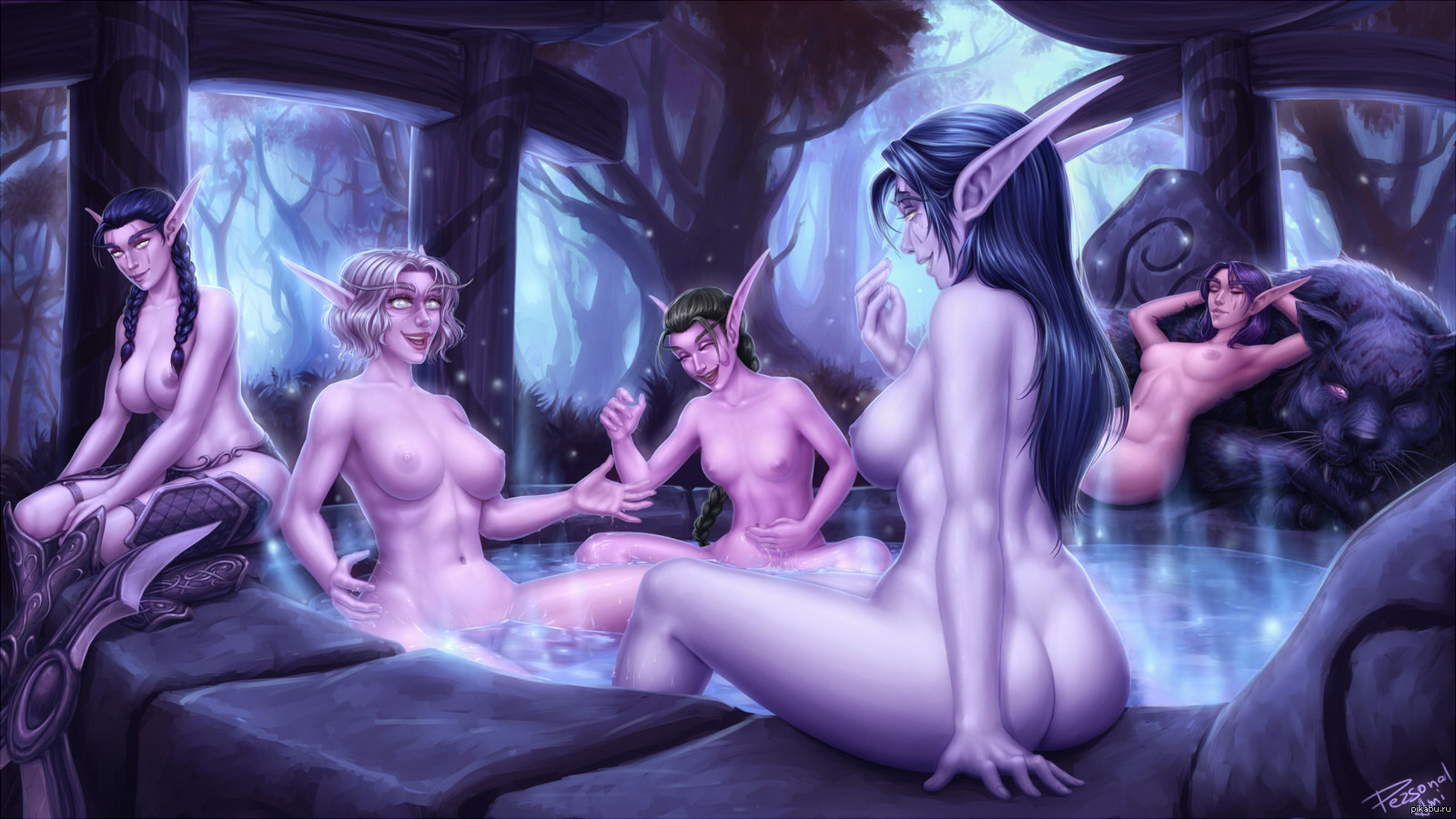 Night elf nude art galleries erotic pictures