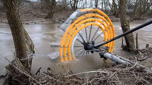Водяная мельница своими руками без насоса