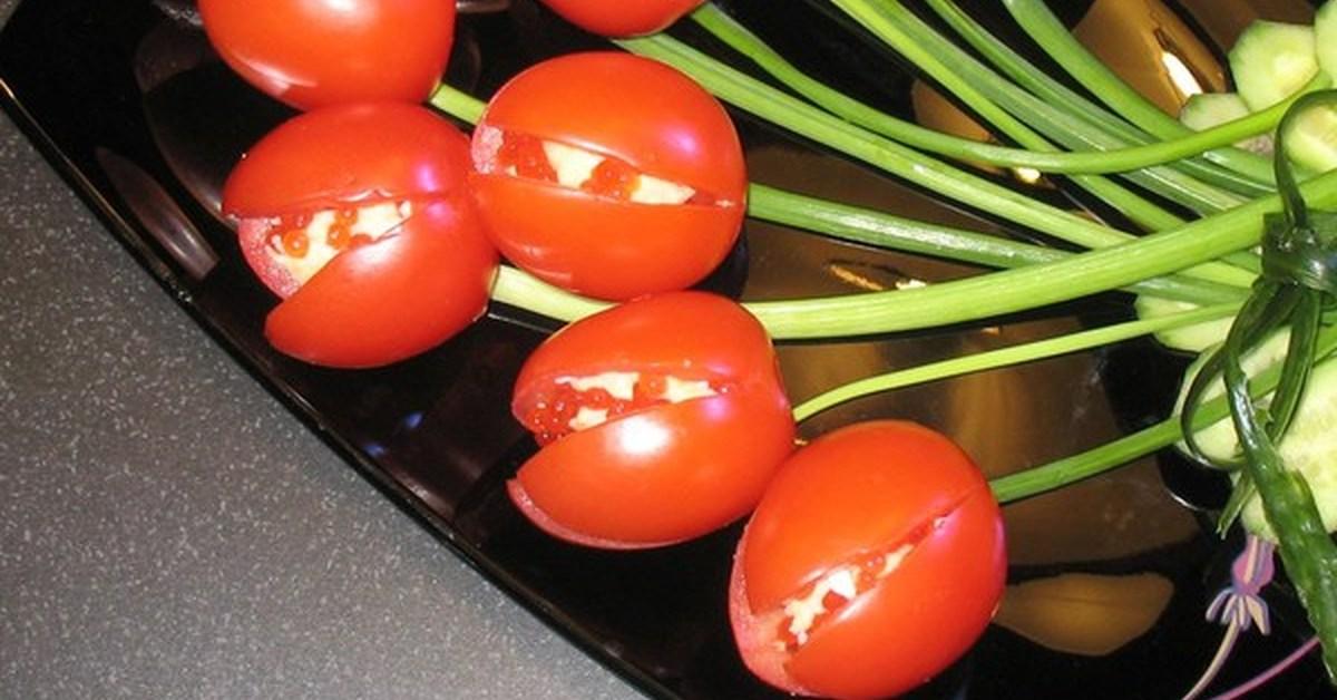 помидоры фаршированные как тюльпаны